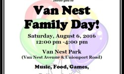 Date Correction: Family Day at Van Nest Park