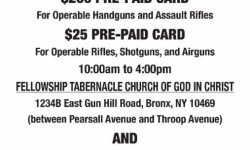 Bronx Churches Host Gun Buyback Program, August 6