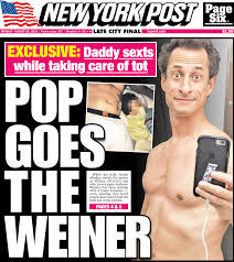 Pop Goes The Weiner, 08/29/2016. Courtesy NY Post