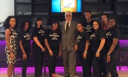 Clement Carey, General Manager at The Residence Inn by Marriott along with Summer Youth Employment Program participants.