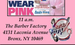 Join CM Andy KingFor Real Men Wear Pink (Against Breast Cancer), August 18