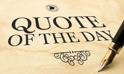 Quote of the Day: January 12, 2018