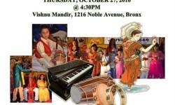 Diwali Cultural Show at Vishnu Mandir – October 27th