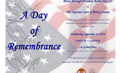Borough President Diaz Remembers September 11