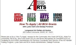 How To Apply For All Bronx Council on the Arts Grants