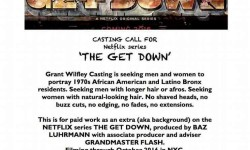 Casting Call for Netflix's The Get Down