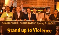 Senator Jeff Klein and Assemblyman Mark Gjonaj Host Stand Up to Violence 2nd Anniversary Peace March