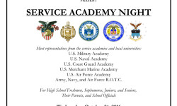 Service Academy Night – October 5th