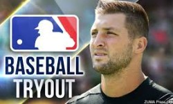 Tebow Scores Baseball Tryout