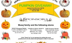 Pumpkin Giveaway by the Albanian & American Open Hand Association Inc. – October 21st