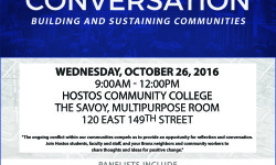 Public Conversation on Sustainability at Hostos College – October 26th