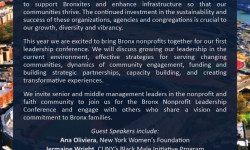 Nonprofit/Faith Community Leaders: Bronx Leadership Conference, 11/3