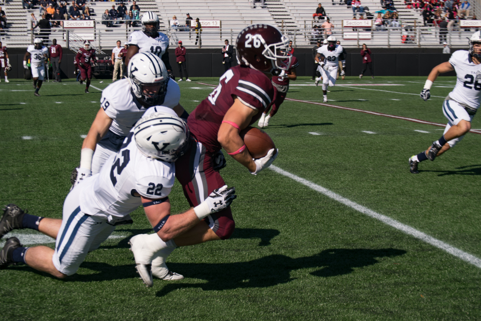 Fordham moves to 4-2 after 44-37 win against Yale. Photo credit: The Fordham Ram