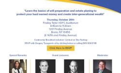 NYC Hispanic Chamber of Commerce Will & Estate Planning 101 Seminar, 10/20