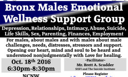 SISFI Hosts Bronx Males Emotional Wellness Support Group – October 18th