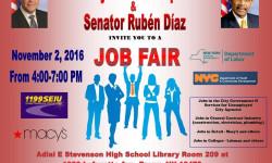 Assemblyman Luis Sepulveda & Senator Ruben Diaz Job Fair, 11/2
