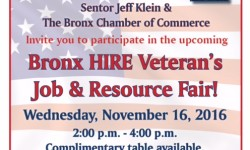 Bronx H.I.R.E. Veterans Job and Resource Fair – November 16th