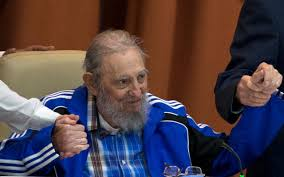 An enfeebled Fidel Castro at  a Cuba Communist Party Central Committee meeting. Credit: The Telegraph (UK)