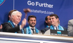 New York City FC's David Villa Rings the Closing Bell at New York Stock Exchange. Credit: NYC FC