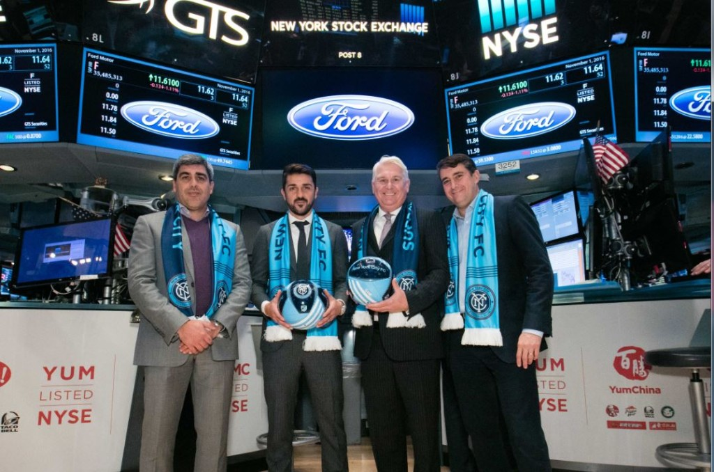 NYCFC team captain David Villa was joined by Club President Jon Patricof, Sporting Diector Claudio Reyna, the Club's Tri-State Ford Partners and supporters.