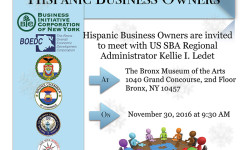 NYCHCC Announces SBA Roundtable with Hispanic Business Owners