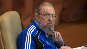 Cuba's communist leader Fidel Castro at t Communist Party Central Committee meeting. Credit: The Telegraph (UK)