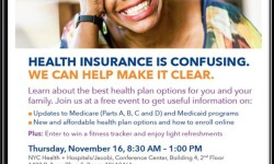 Free Health Insurance Workshop at Jacobi – November 16th