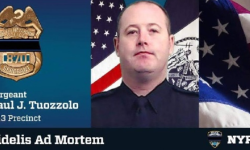 Hundreds Attend Vigil For Slain NYPD 43rd Precinct Sgt. Paul Tuozzolo