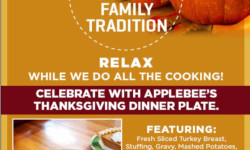 Thanksgiving Dinner Special at Applebee's Grill & Bar