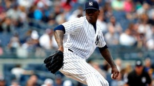 NY Yankees closer, Aroldis Chapman