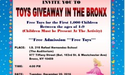 Toys Giveaway In The Bronx, 12/20