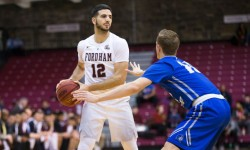 Fordham sophmore guard Joseph Chartouny. Photo credit: Robert Cole.