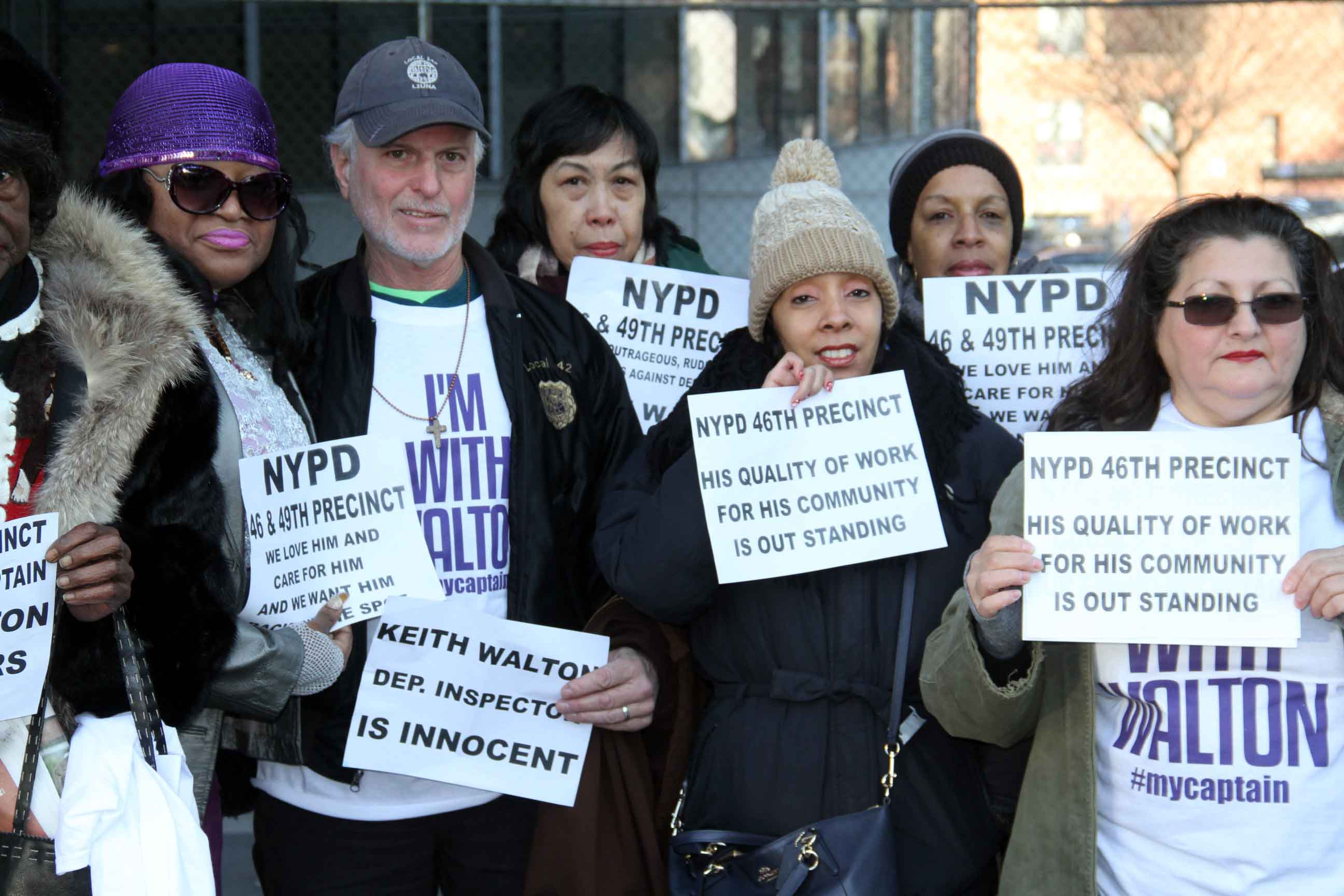 Supporters vow to attend every court date in support of Deputy Inspector Keith Walton