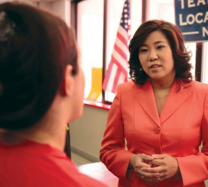 Rep. Grace Meng (D-Queens) is a DNC Vice Chair, Assistant Whip for House Democrats, and is currently running for re-election as DNC Vice Chair.