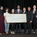 NYS Assembly Member Michael Blake, former FSCNY Scholarship Winner, presented the FSCNY/MoneyGram International Scholarship Awards to 2016's winners last May.