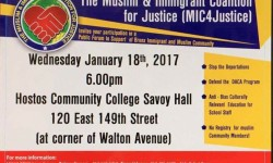 Muslim and Immigrant Coalition for Justice Forum, January 18