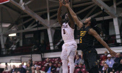 Fordham's Antwoine Anderson who finished with 15  points and got the game winning buzzer shot for the win over VCU in overtime. Credit: Gary Quintal