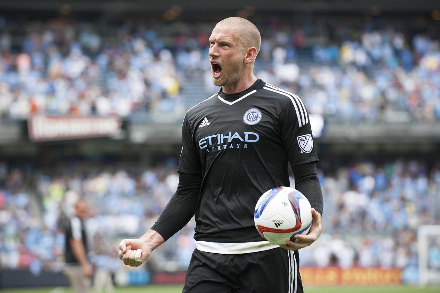 Josh Saunders was in goal back on  July 26, 2015 when New York City FC defeated Orlando City SC 5-3 at Yankee Stadium. Photo: Mike Lawrence