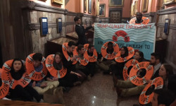 "Millennials sit-in at Governor's office: ""Trump's a climate emergency, Cuomo show some urgency"""