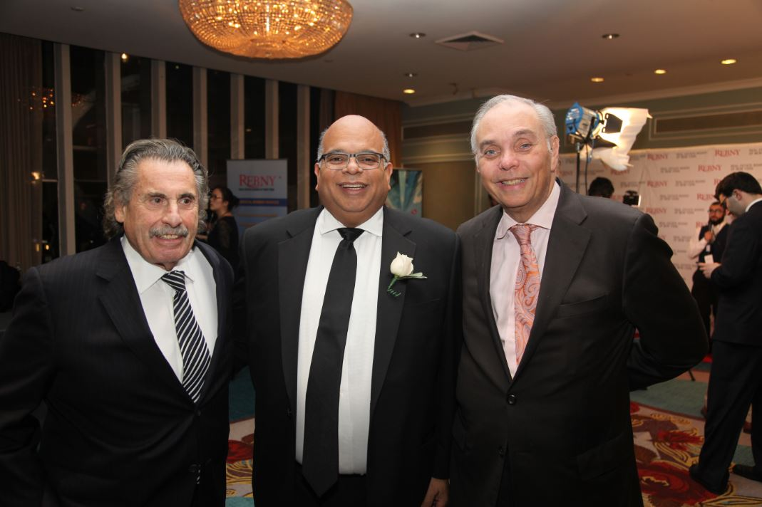 From left: Sid Davidoff of Davidoff Hutcher & Citron; John Banks of Real Estate Board of New York, attorney Stanley Schlein. Photo credit: The Real Deal
