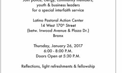 Together as One NYC Interfaith Event, January 26