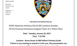 The Pelham Parkway Neighborhood Association Community Meeting – January 10th