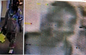 Police have released two surveillance photos of a suspect wanted for the theft of a book-bag at the Kingsbride Public Library on November 4. Photos courtesy of the NYPD