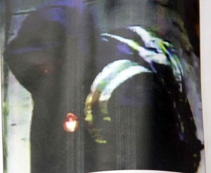 The survalience photo does not show the suspects face, but police believe the jacket or back-pack could help with his identification. Photo courtesy of the NYPD