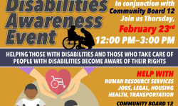 Disabilities Awareness Event Hosted by Councilmember Andy King – TODAY