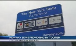 NYS DOT Commissioner Matthew Driscoll released revised cost numbers. In November, he said $1.7 million had been spent on materials for the signs. Credit: WHEC.com