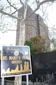 A Brooklyn pervert was released after a little more than 2-moths in jail, the mother fears he may return to the St. Mar'y Park Houses in Longwood. Photo by David Greene