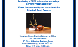 Office of the Bronx District Attorney Upcoming Workshop, Wednesday March 29