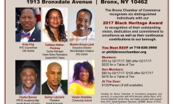 Bronx Chamber of Commerce Black Heritage Celebration Luncheon – February 24th