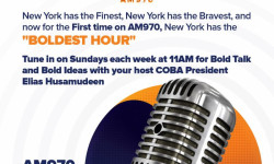 Tune in on Sundays each week at 11AM for COBA RADIO: The Boldest Hour on AM970 with your host COBA President Elias Husamudeen